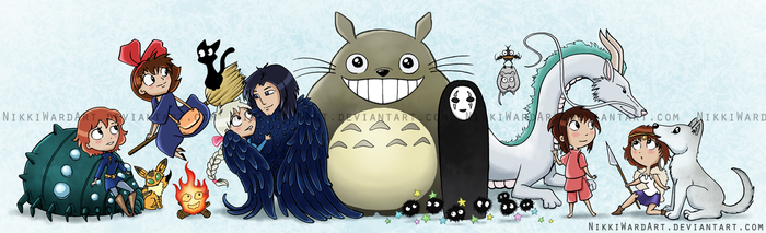 Ghibli Friends by NikkiWardArt