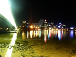 Perth City At Night 1 by Moboist