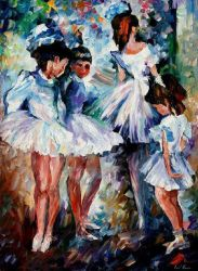 Young Ballerinas by Leonid Afremov by Leonidafremov