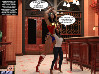 Claudia Quinones becomes Wonder Woman in Bar TF 1a by mercblue22