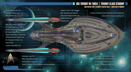 Theurgy-class Starship Schematics | Ventral View by Auctor-Lucan