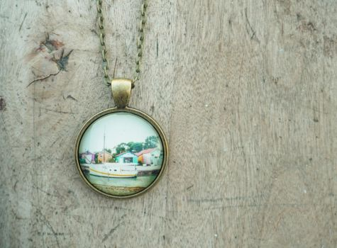 Little town in France pendant by Sanakata
