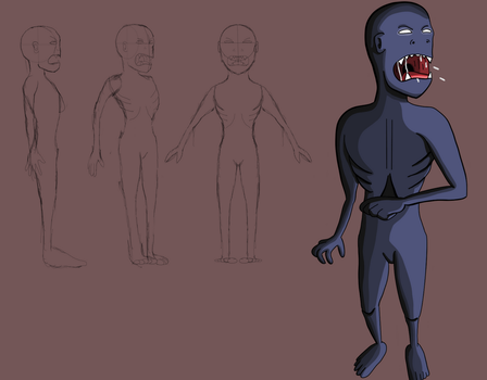 Zombie-like Creature (Model Design) by The-Ray3000