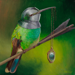 Colibri Oilpainting by zwillhyper