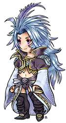 Com: ff3 style Kuja by roseannepage