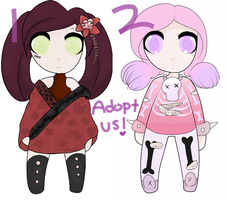 Adopt Us! - 50 points Each - OPEN - by GlossyAdopts