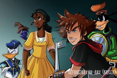 KH: Princess and the Frog by Refrigerator-Art