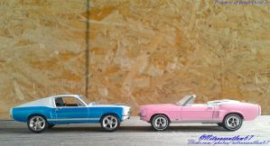 His and Hers 1967 Ford Mustang GTs by Nitrousoutlaw71
