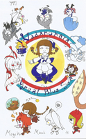MogekoMarch #4: Wadanohara and the Great Blue Sea by caleola