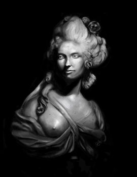 18th century bust: value study by saemful