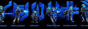 Starshock : Conglomerate Infantry Units by henrykhaung