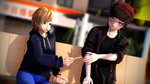 [MMD + Speed Picture] Socializing with a smoke by CinnamewRoll