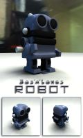 bob a Longs 3D Toy Robot Reproduction by sicklilmonky