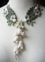 Crochet Art Nouveau Necklace by meekssandygirl