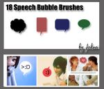 18 Speech Bubble Brushes by thexunknown