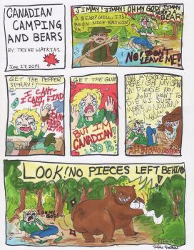 Canadian Camping and Bears by piggy-obsessed