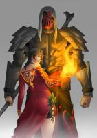 Cinder and Stone (Commission) by Batomys2731