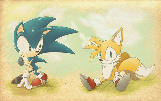 Sonic and Tails by Hydro-King