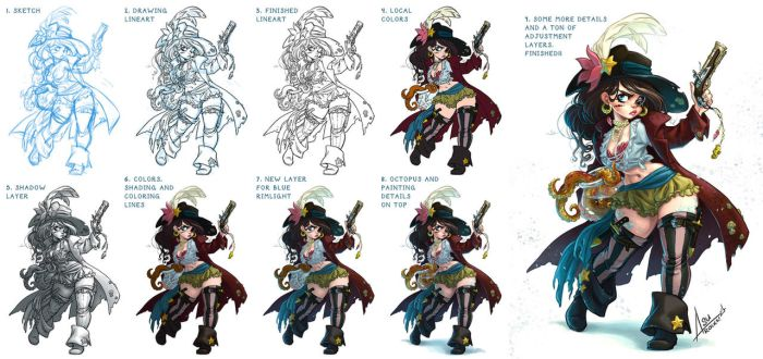 The mermaid pirate - making of by bewareitbites