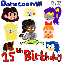 15th Birthday! by Daracoon911