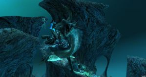 Encounter with the Lord of the Sea by ringeladingdong