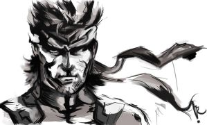 Solid Snake by RaquelQuiros