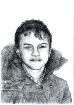 Portrait of a boy by DrawnM0nster