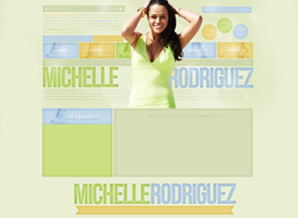 Michelle Rodriguez Free Layout by lenkamason