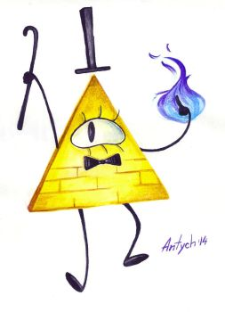 Gravity Falls: Bill Cipher by Antych
