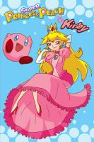 Peach and Kirby by Lily-Poulp