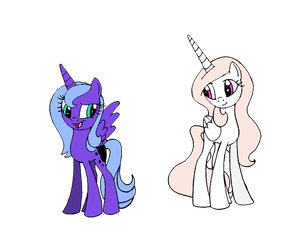 Concept Art for Young Celestia and Luna by AmalgamImage0