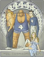 Art Nouveau Fantastic Four by whatwouldjoshdo