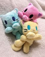 Candy Colored Kitty Beanies by TheHarley