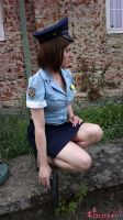 Jill Valentine RE3 Police Officer cosplay VIII by Rejiclad