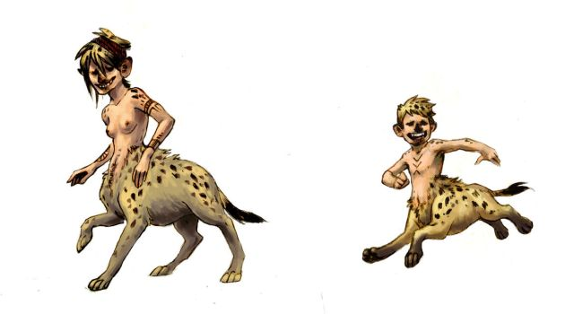 Hyena Centaurs by pieceofsleep
