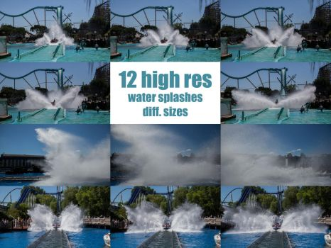 12 water splashes different sizes by ISOStock