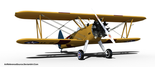 Stock:  Biplane PNG by ArtReferenceSource