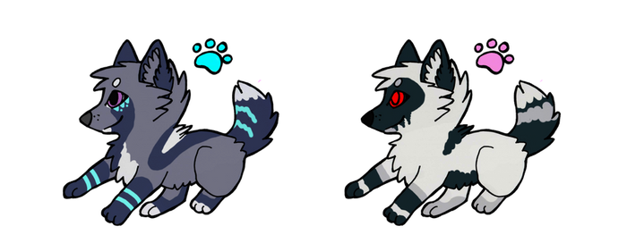 wolf adoptables2 COLSED by DarkGhost97