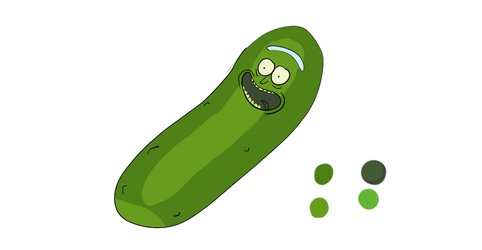 Pickle Rick by Spitbomb