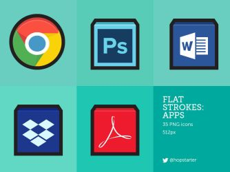 Flat Strokes Apps by hopstarter