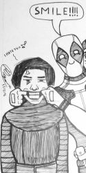 Deadpool and Kylo Ren taking a selfie by atisuto17