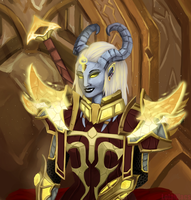 My Lightforged Draenei Velana by Lolalilacs