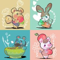ACNL Villagers: Foodies by KittyCouch