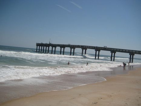 Free Stock Beach Surf Ocean Pier Stock by SilverRiverStock