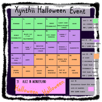 Xynthii: Halloween Event Calendar CLOSED by ObsceneBarbie