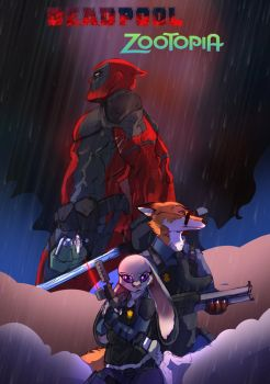 DEADPOOL X ZOOTOPIA by brokencreation