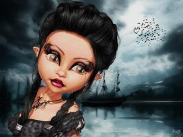 Halloween portrait Lucile by Sissy-Baby