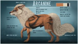 Arcanine ref sheet redo by Chickenbusiness