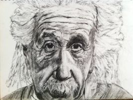 Einstein Charcoal by DustinJWCook