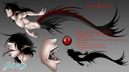 Julious Merman/Sea Monster Reference Sheet by SafireCreations